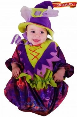 Costume Halloween strega per neonata alta qualita'