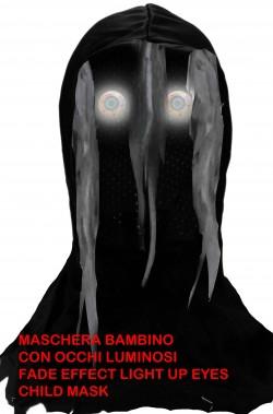 Maschera Halloween bambino con occhi luminosi effetto sfumato