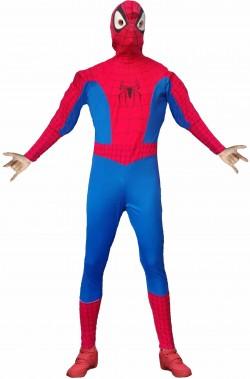 Costume uomo ragno adulto rosso e blu con maschera