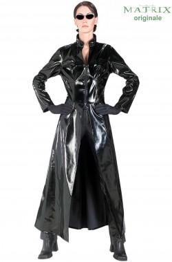 Costume di Trinity di Matrix cappotto nero in vinile con occhiali