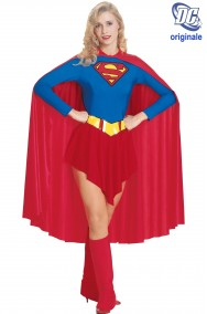 Costume carnevale donna cosplay supereroina Supergirl