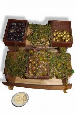 Accessori presepe banco frutta e verdura del mercato