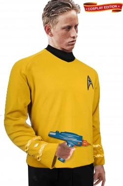 Costume Capitano J.T. Kirk Star Trek uniforme Capitano gialla con phaser