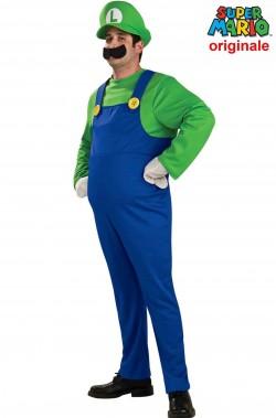 Costume carnevale adulto Super Luigi Deluxe supermario bros