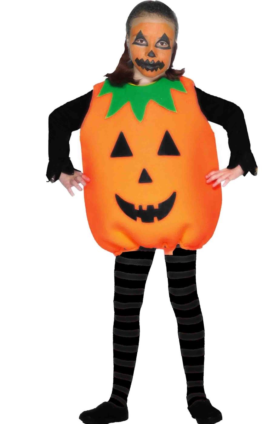 Costume Bambina Zucca di Halloween