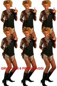 Gruppo di costumi donne leopardo o delle caverne
