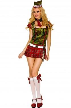 Costume Sexy Soldatessa militare scozzese