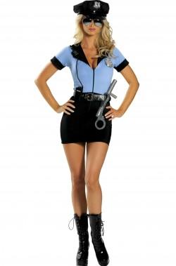 Costume donna Poliziotta. Superaccessoriato