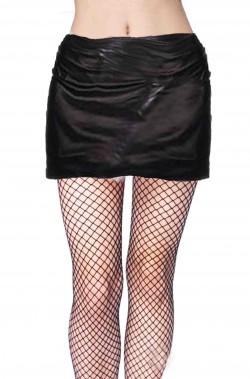 Minigonna nera di vinile