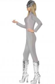 Costume tuta second skin Robot Borg donna
