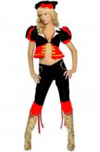 Costume donna Torera rossa e nera