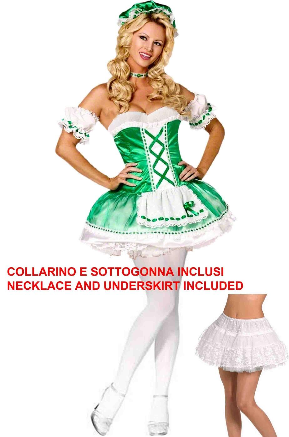 Costume donna San Patrizio St Patrick's day sottogonna inclusa
