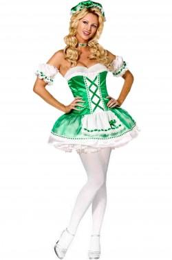 Vestito di carnevale verde donna celtica San Patrizio St Patrick's day