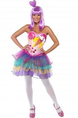 Costume di carnevale Candy Queen, la regina dei dolci Katy Perry