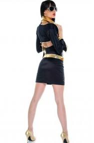 Vestito donna nero stile Elvis Presley Pop Star