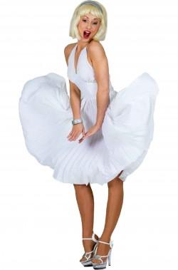 Costume Marilyn diva anni 50 bianco intermedio