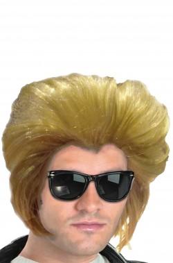 Parrucca uomo bionda corta stile rockabilly Anni 50 col grande ciuffo