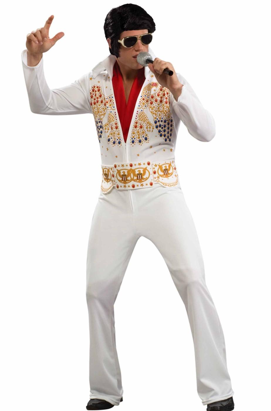 Costume carnevale Elvis Presley imitazione abito Alhoa Eagle