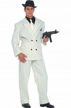 Costume uomo Gangster bianco boss della mafia