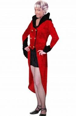 Costume vampira con frac rosso