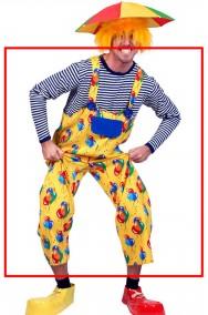 Tuta salopette per costume da pagliaccio adulto o clown