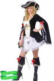 Costume donna moschettiera pirata dei caraibi donna con fiocchi
