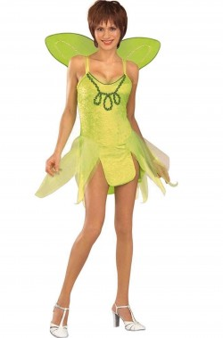 Costume carnevale da donna Campanellino Fatina Trilli verde