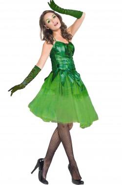 Costume carnevale donna Elfa verde Danzatrice del bosco