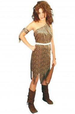 Costume Jane di Tarzan leopardato donna delle caverne