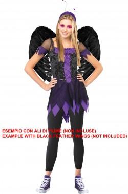 Costume Halloween fata o strega per ragazza