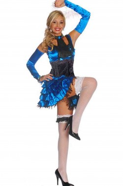Costume donna Ballerina del Can Can Burlesque Saloon Girl