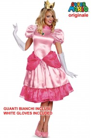 Costume pricipessa peach originale Super mario adulta