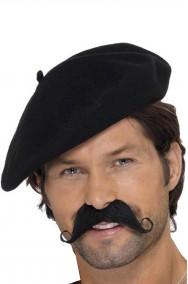 Cappello Basco Nero alla francese maquis pittore o drugo di arancia meccanica