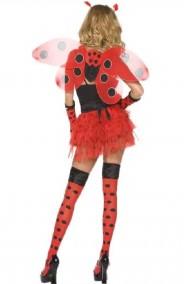 Costume di carnevale donna Coccinella bella rosso e nero lady bug