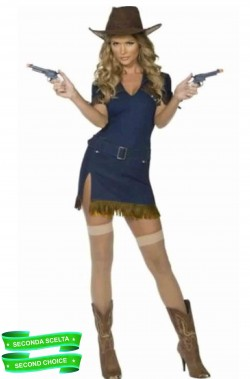 Costume donna Cowgirl Country Western bluejeans pistolera
