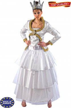 Costume di carnevale teatrale Regina Bianca Alice in Wonderland Top Quality