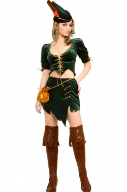Costume di carnevale o cosplay medievale donna Robin Hood
