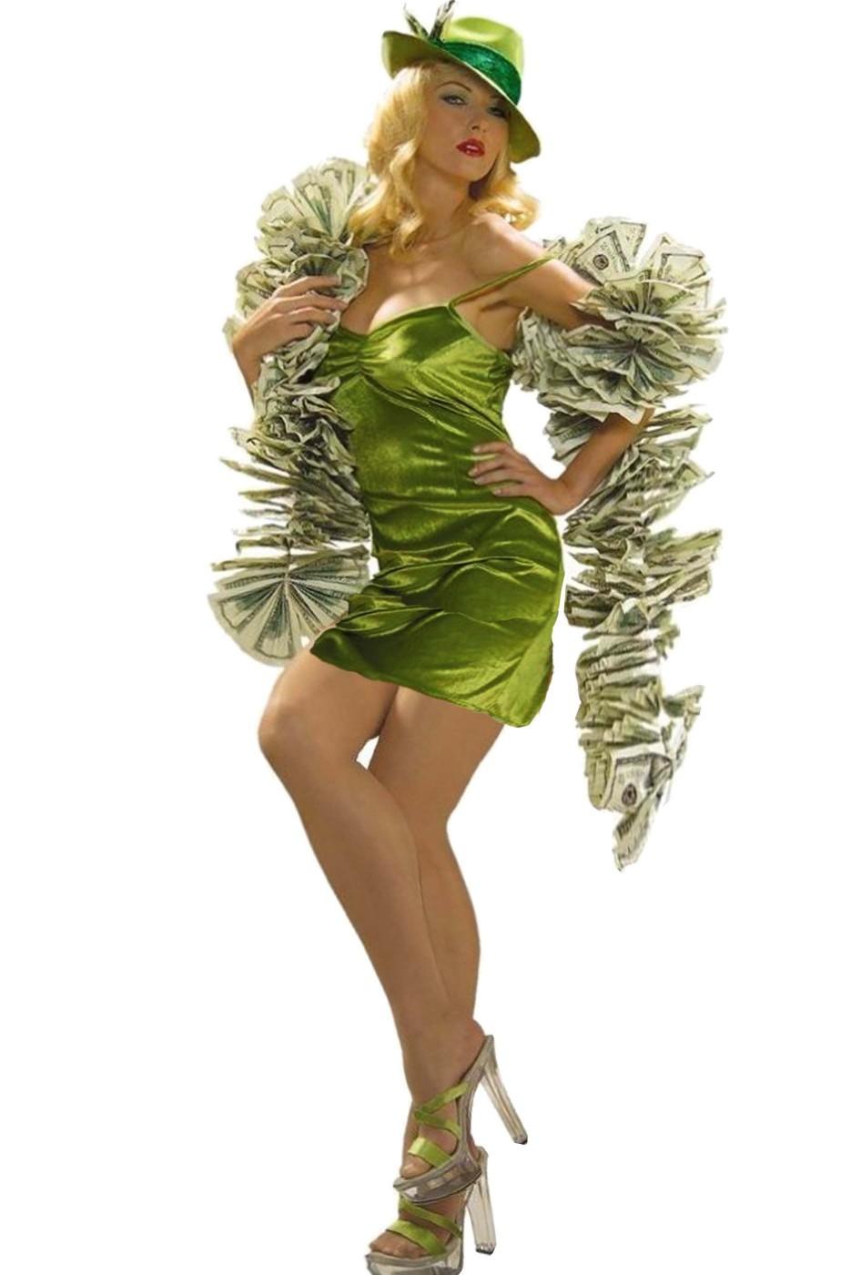 Costume di carnevale da donna giocatrice d'azzardo dea bendata