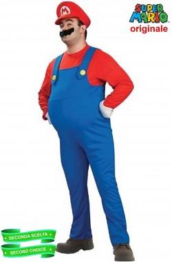 Costume Super Mario Deluxe con bottoni SECONDA SCELTA