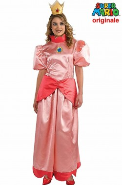 Costume carnevale pricipessa Peach di Super Mario Bros originale
