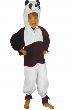 Costume di carnevale da Bambino Panda bianco e nero di pelouche