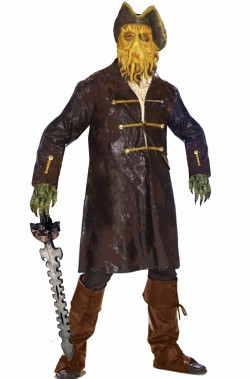 Costume pacchetto cosplay Davy Jones pirata dei caraibi