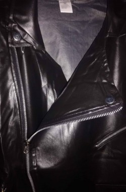 Giubbotto nero di PVC chiodo stile Grease Giacca da T Birds adulto
