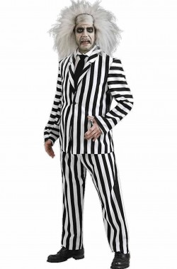 Vestito di Halloween di Beetlejuice Spiritello Porcello adulto de luxe