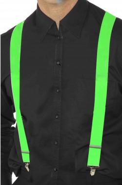 Bretelle verdi fluo neon per reggere i pantaloni