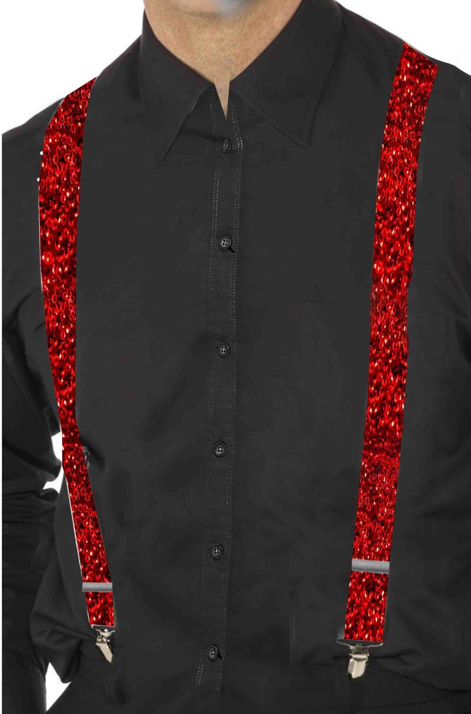 Bretelle rosse di paillettes eleganti