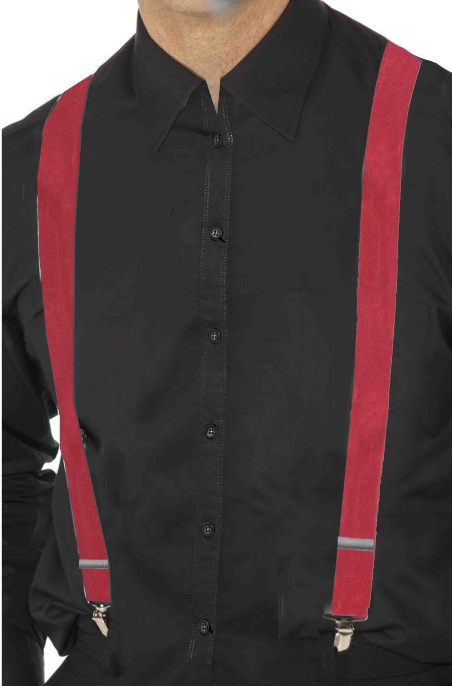 Bretelle rosse regolabili per reggere i pantaloni