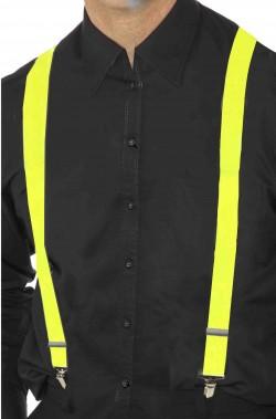 Bretelle gialle fosforescenti fluo neon per reggere i pantaloni