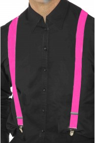 Bretelle rosa per pantaloni fluo neon fosforescenti