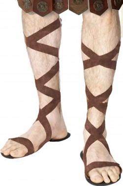 Sandali Antico Romano con suola di neoprene e schiava effetto scamosciato